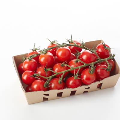 Organic Cherry Vine Tomatoes Grown On The Isle Of Wight