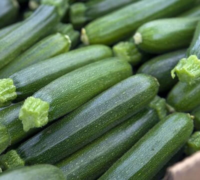Organic Courgettes Grown In Gloucestershire