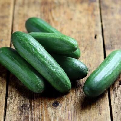 Organic Mini Cucumbers Grown In Gloucestershire