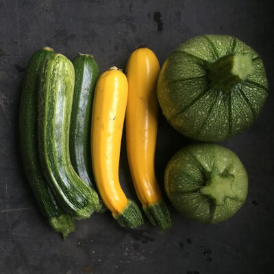 Courgettes Grown At Vallis Veg