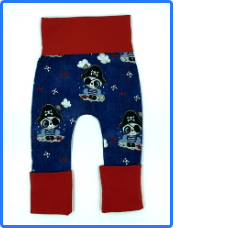Children's On The Grow Pirate Panda Leggings