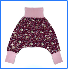 Children's Pink Deer Harem Pants