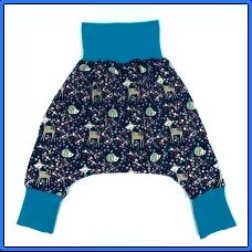 Children's Navy Deer Harem Pants