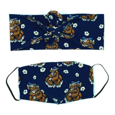 Coo Hairband And Face Mask Set Adult Size