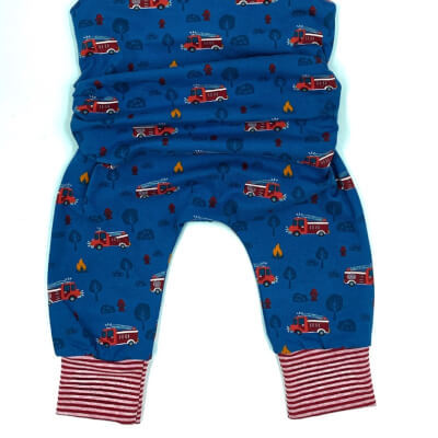 Children's On The Grow Fire Engine Romper