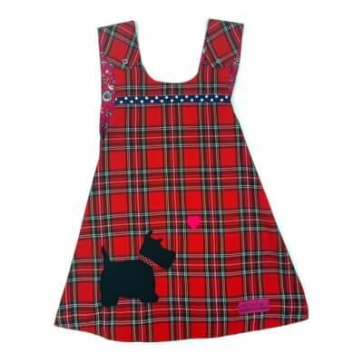 Red Tartan Reversible Dress 4-5 Years