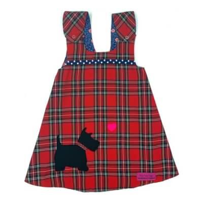 Red Tartan Reversible Dress 3-4 Years