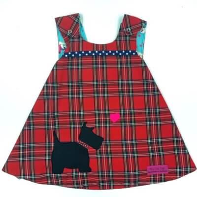 Red Tartan Reversible Dress 0-3 Months