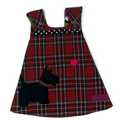Red Tartan Reversible Dress 6-12 Months