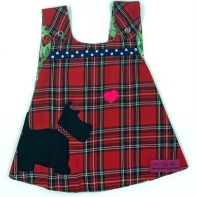 Red Tartan Reversible Dress 3-6 Months