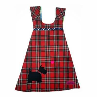 Red Tartan Reversible Dress 5-6 Years