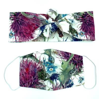 Thistle Hairband And Face Mask Set Adult Size