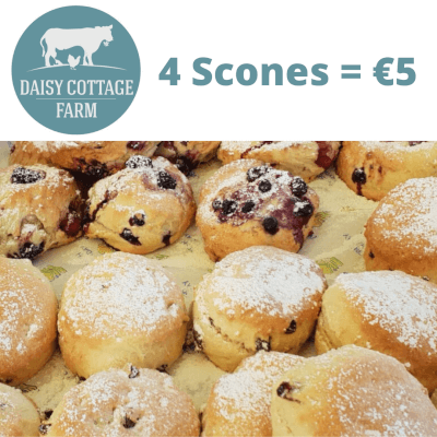 Gluten Free Strawberry And White Chocolate Scones Special - 4 For €5