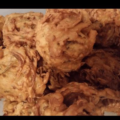 Khattimeethi Onion Bhajis