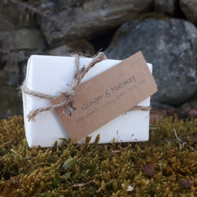 Smelleez Ginger & Nutmeg Goats' Milk Soap Bar