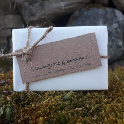 Smelleez Lemongrass & Bergamot Olive Oil Soap Bar