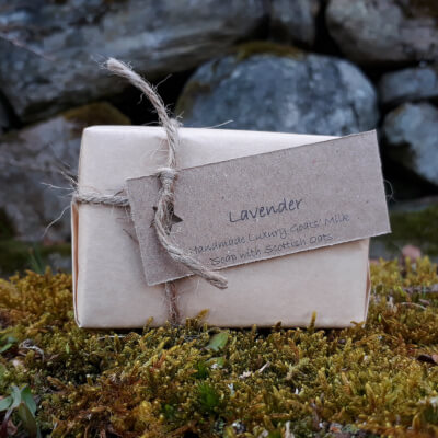 Smelleez Lavender Goat's Milk Oatmeal Soap Bar