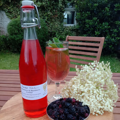 Elderflower And Blackberry Cordial