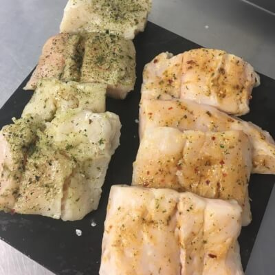 Ginger, Chilli And Lime  Or Garlic And Herb Hake Fillets