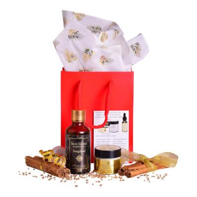 Skin Elixir Gift Set #3 15Ml Moisturiser & 50Ml 'Sangfoid' Body/Bath Or Shower Oil