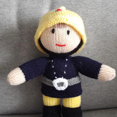 Knitted Fireman
