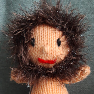 Knitted Cave Man