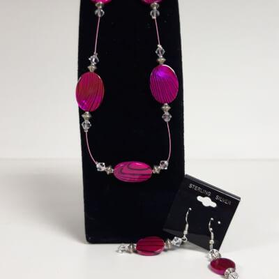 Dazzling Pink Necklace Set