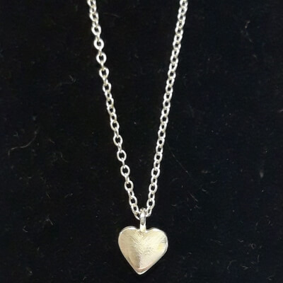 Silver Heart Necklace S