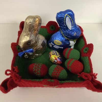 Hand Knitted Easter Basket