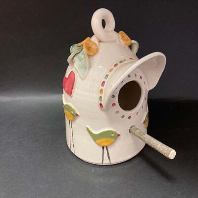 Ceramic Bird House & Rest