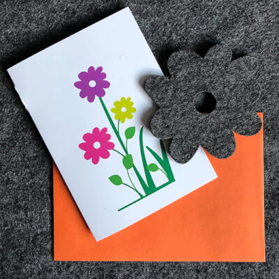 Blooming Lovely Card With Grey Coaster