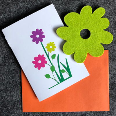 Blooming Lovely  Card With Lime Coaster