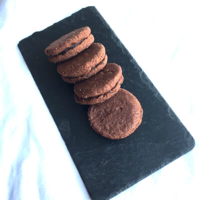 Chocolate Cherry Bite Sandwich Biscuits (Pack Of 4)