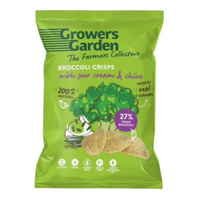 Broccoli Crisps With Sour Cream And Chive (22G)