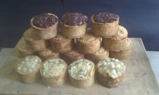 Pork Pie With Dovedale Blue Topping