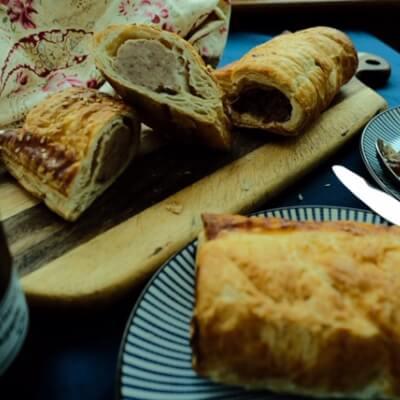 Pork & Stornoway Black Pudding Sausage Roll