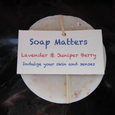 Natural, Handmade Soap - Lavender & Juniperberry (The De-Stressor Bar)