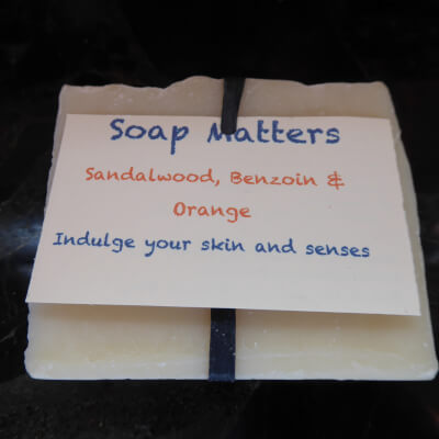 Natural, Handmade Soap - Sandalwood, Benzoin & Orange - (The Sensitive Bar)