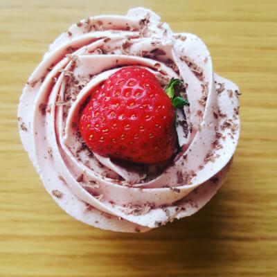 Vanilla And Strawberry Cupcake