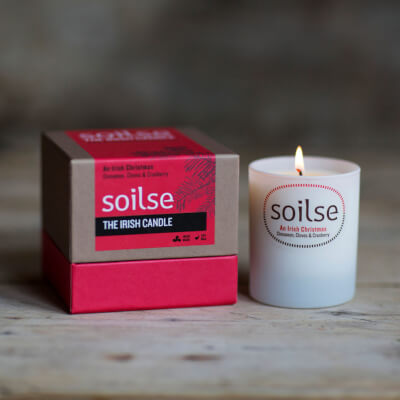Soilse 'Irish Christmas' Scented Soy Wax Candle In Luxury Gift Box