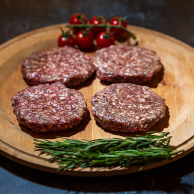 Beef Burgers From Our Organic Farm X 4 - Frozen