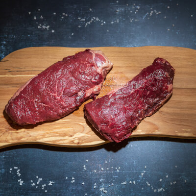 Rump Steak From Our Organic Farm 1 X 375G Approximate Weight  - Frozen