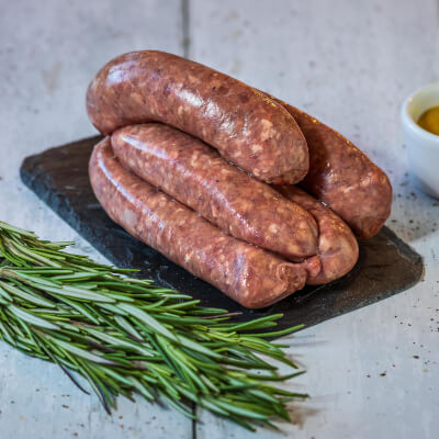 Beef Link Sausages X 8 From Our Organic Farm - Frozen