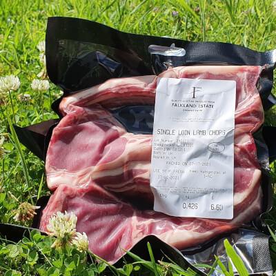 Frozen Lamb Loin Chops From Falkland Estate Organic Farm Frozen