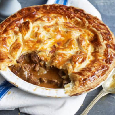 Steak Mushroom Red Wine Pie