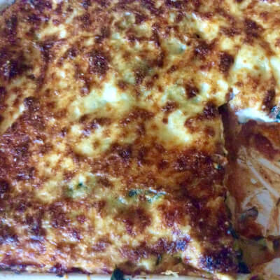 Roasted Pumpkin & Spinach Autumn Lasagne V