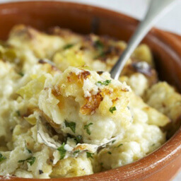 Roasted Cauliflower Cheese V