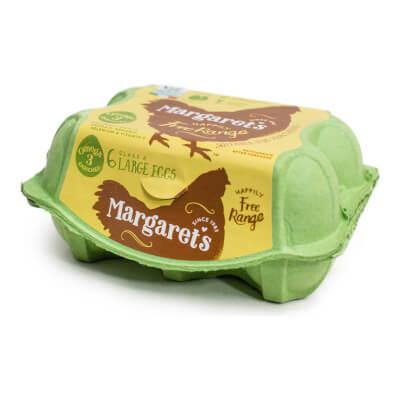 Margaret's Free Range Omega 3 Eggs 6S