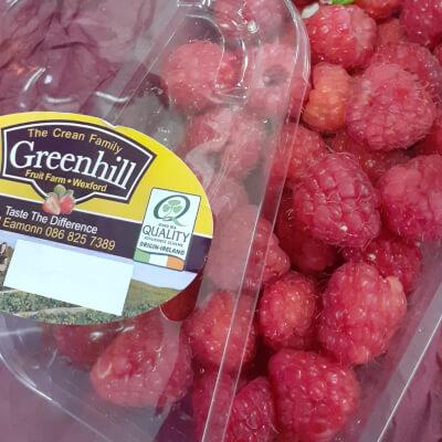 Fresh Irish Raspberries