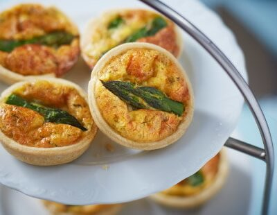 Asparagus And Cheddar Quiche